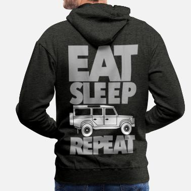 Eat Sleep Defender Repeat - Männer Premium Hoodie