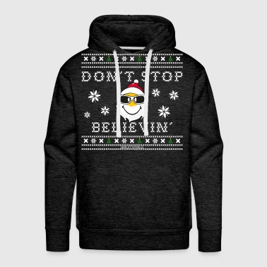 Smiley World Père Noël Don't Stop Believin' - Sweat-shirt à capuche Premium pour hommes
