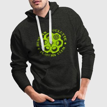 Russian Roulette Players Club Neon Vintage - Men's Premium Hoodie