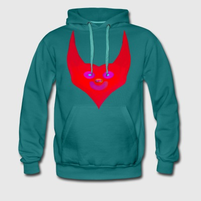 heart horns devil satan abstract - Men's Premium Hoodie
