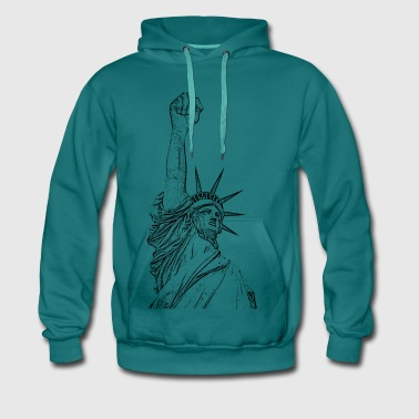 Statue of Liberty, fist held high - Men's Premium Hoodie