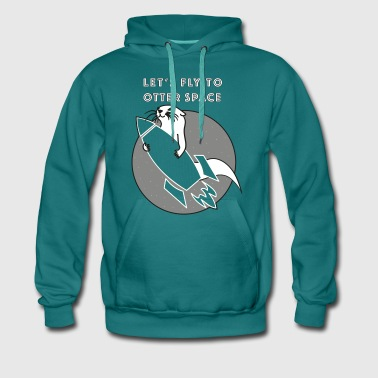 LET´S FLY TO OTTER SPACE -TRANSPARENTE RAKETE - Männer Premium Hoodie