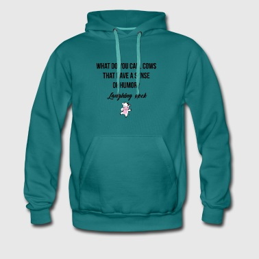 Cows with a sense of humor - Männer Premium Hoodie
