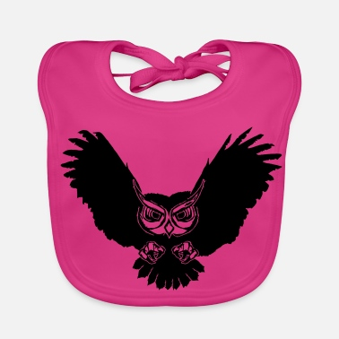 Flight Owl in flight - Baby Bib