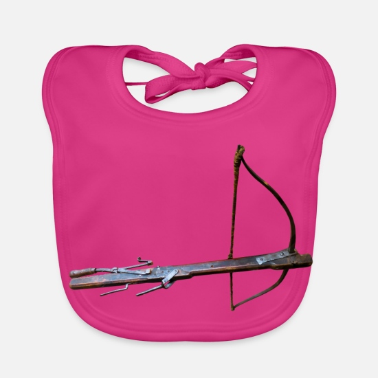 Ziel Baby Clothes - archery arrow bow crossbow target sports65 - Baby Bib fuchsia
