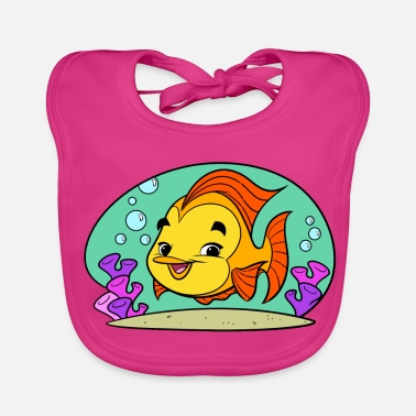 Fishy Tiny Art Collection - Baby Bib