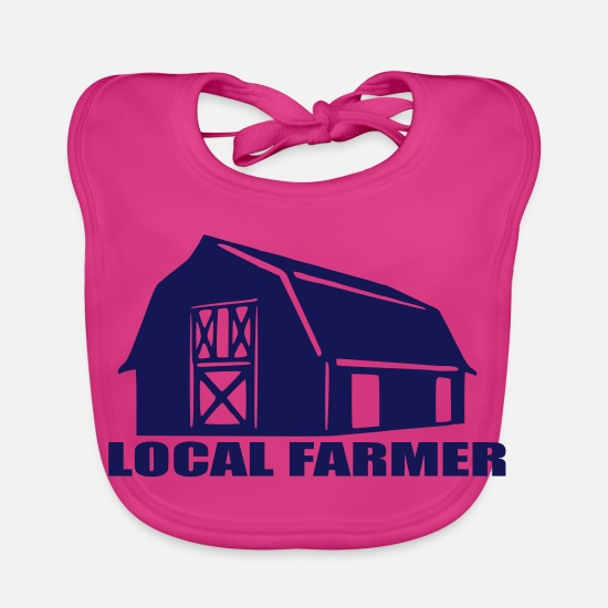 Mummy Baby Clothes - local farmer - Baby Bib fuchsia