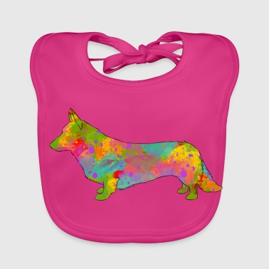 Welsh Corgi Cardigan Multicolored - Baby Organic Bib