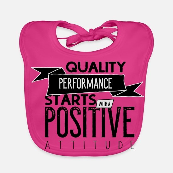 Travel Baby Clothes - Quality performance with a postive attitude - Baby Bib fuchsia