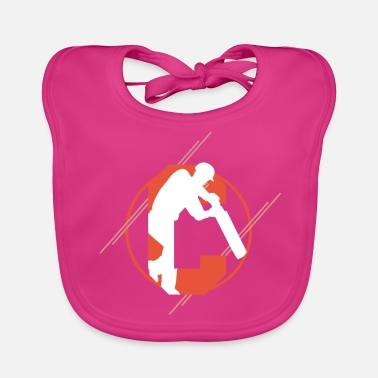 Cricket Cricket Cricket Player Cricket Cricket Ball Gifts - Baby Organic Bib