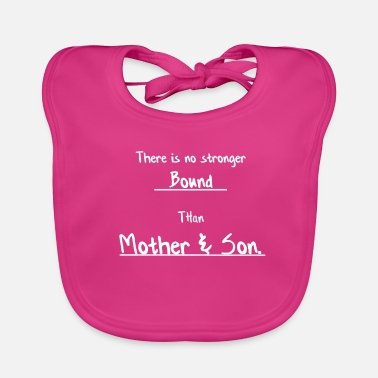 Mami strong bound mother and son mother son gift - Baby Organic Bib