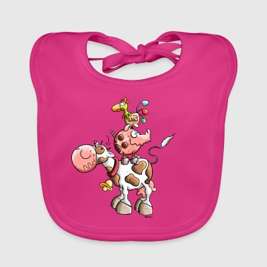 Funny Farm Animals - Baby Organic Bib