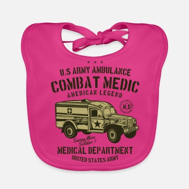Militaria Medical Department Combat Medic - Baby Bib