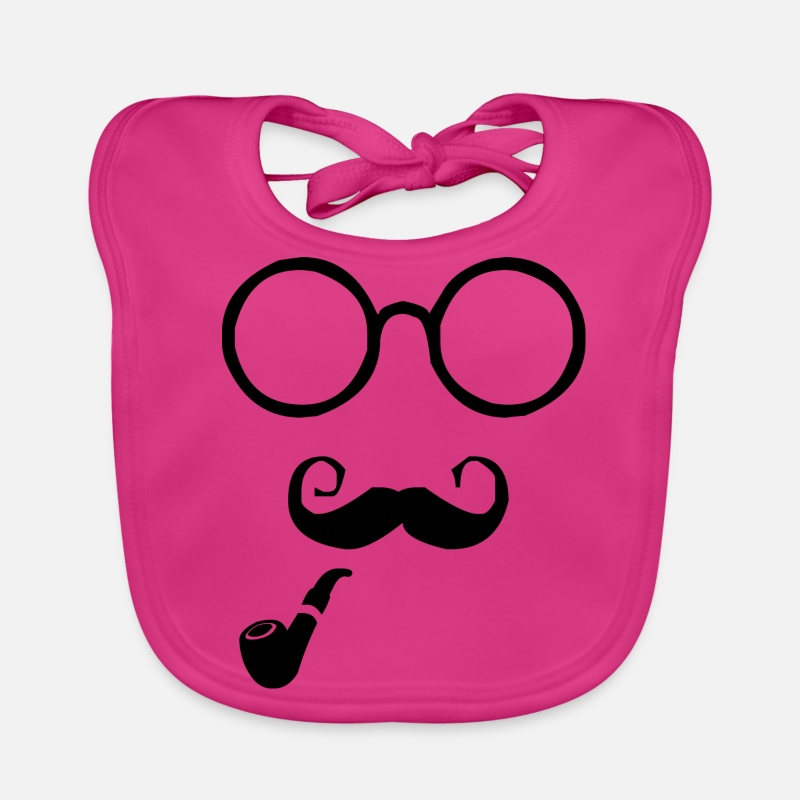 Hipster Baby Clothes - hipster - Baby Bib fuchsia
