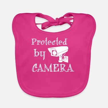 Security Protected by camera - Baby Organic Bib