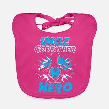 Distressed Uncle Godfather Hero Distressed - Lätzchen