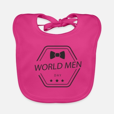 Day World Man Day / World Men Day - Ekologisk babyhaklapp