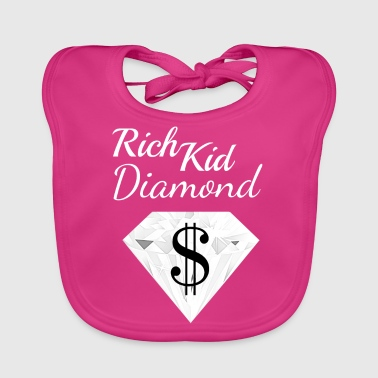 Diamond Dollar Sign Rich Child Money Wealthy - Baby Organic Bib