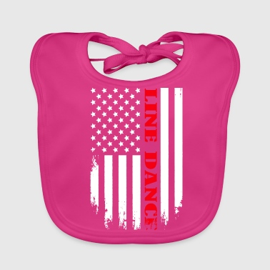 Patriotic Line Dance Player - Flag - Baby Bio-Lätzchen