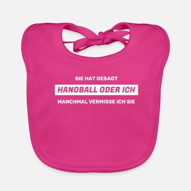 Handball men handballer saying - Baby Bib