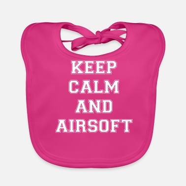 Airsoft KEEP CALM AND AIRSOFT - White Edition - Baby Organic Bib