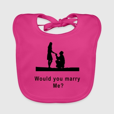marriage proposal - Baby Organic Bib