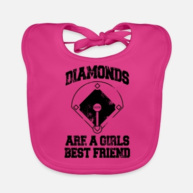 Friend Diamonds Are A Girl's Best friend - Baby Organic Bib