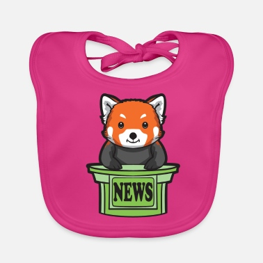Presenteren Red Panda News Presenter - Bio-slabbetje voor baby's
