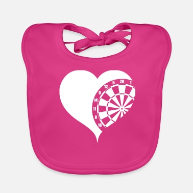 Darts dartboard heart pub sports darts - Baby Bib
