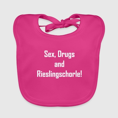 sex drugs and rieslingschorle funny saying - Baby Organic Bib
