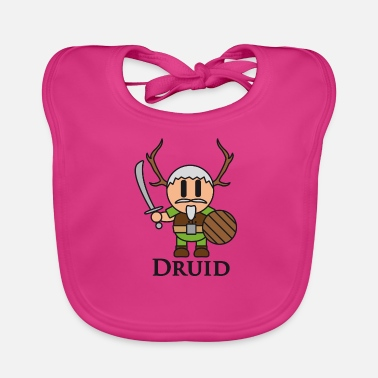 Dungeons And Dragons Druid from RPGs like Dungeons & Dragons - Baby Organic Bib