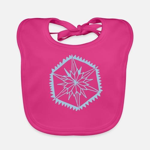 8040781bbcf7 Snowflake Hexagonal Gift Glittering Dreamy Baby Bib