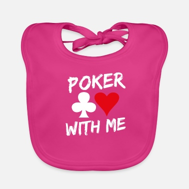 Poker Sayings | Kort Casino Cross Heart Gift - Ekologisk babyhaklapp
