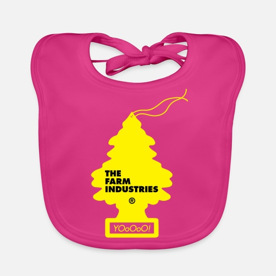 Comic Baby Clothes - THE FARM INDUSTRIES SWAG - Baby Bib fuchsia