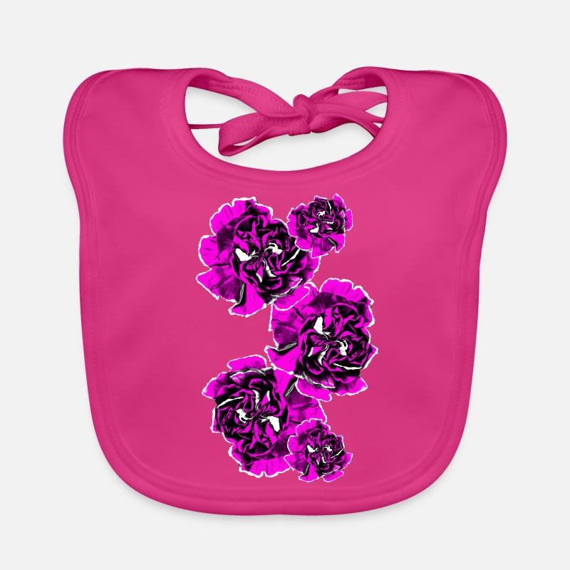 Cadeau De Tatouage Roses Violettes Violettes Bavoir Bebe Spreadshirt