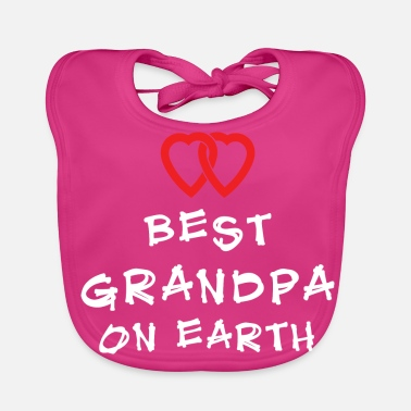Grandad Best Grandpa On Earth - Baby Organic Bib