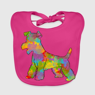 Welsh Terrier Multicolored - Baby Organic Bib