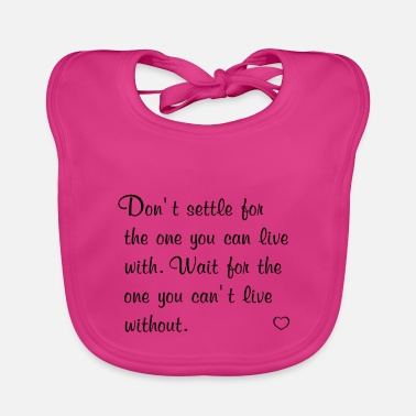 Emotion love quotes uk - Baby Bib