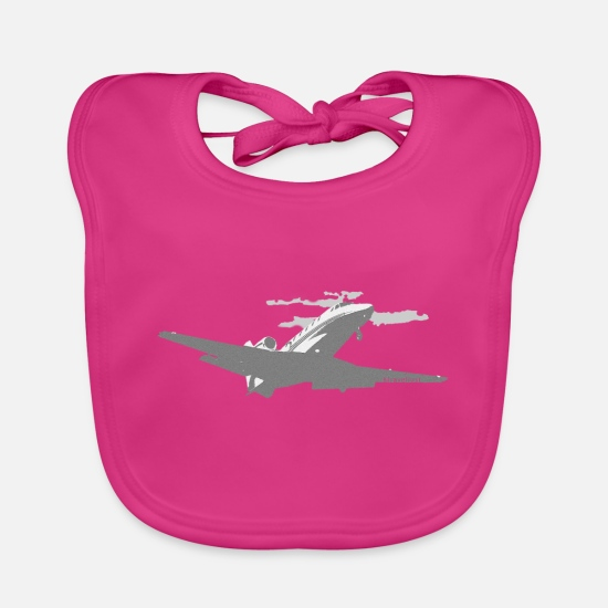 Travel Bug Baby Clothes - wanderlust - Baby Bib fuchsia