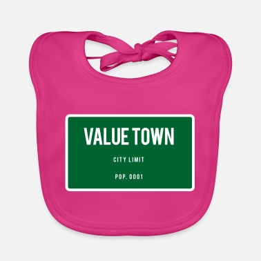 Town Value Town town sign - Baby Bib