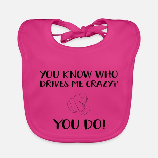 Office Baby Clothes - Cool saying - Baby Bib fuchsia
