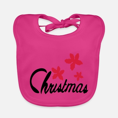 Poinsettia Christmas_flowers poinsettia - Baby Bib