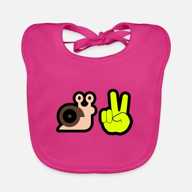 Greeting snail greeting - Baby Bib