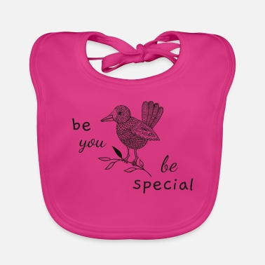 Quota Be you, be special, Bird. quota - Baby Bib