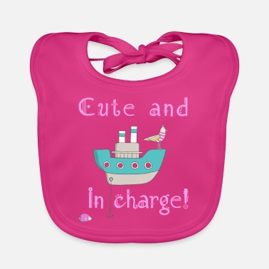 Cute and in Charge! (dark background) - Baby Bib