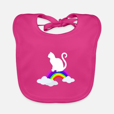 House Tiger Cats rainbow house tigers - Baby Bib