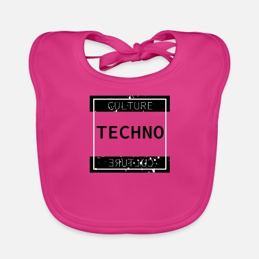 Techno Culture Culture Festival Party Rave Shirt - Baby Bib