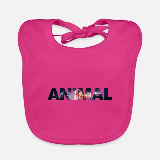 Animal Rights Activists Baby Clothes - Animal - Baby Bib fuchsia