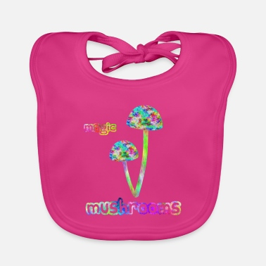 Magic Magic Mushrooms / Psychedelic mushrooms - Baby Bib