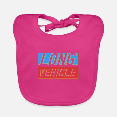 Vehicle Long Vehicle - Baby Bib